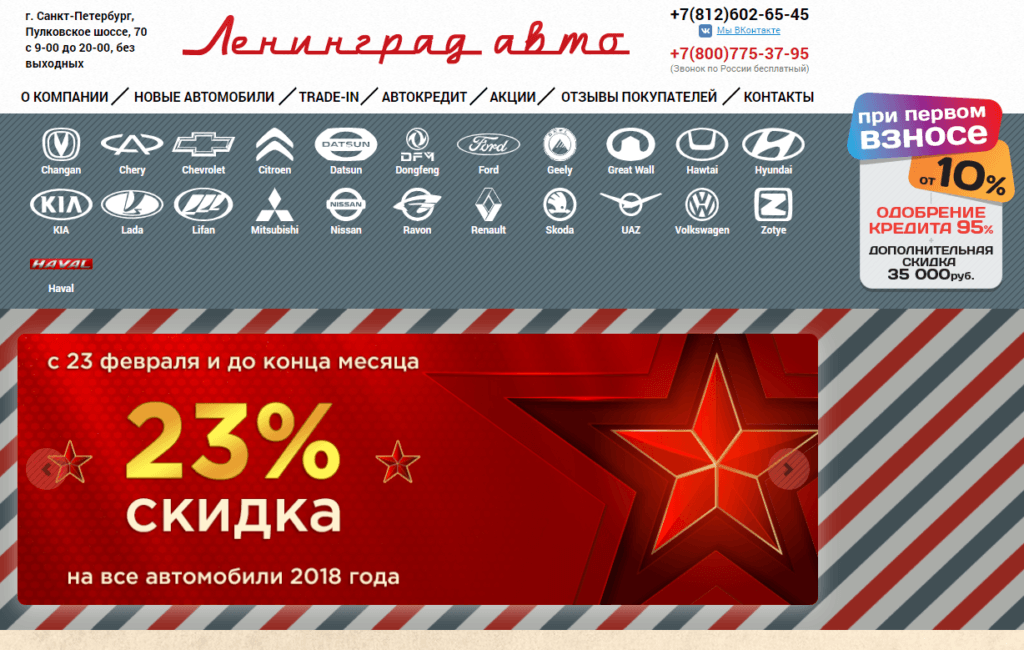 Автосалон Ленинград Авто отзывы покупателей на сайте Про-Автосалон